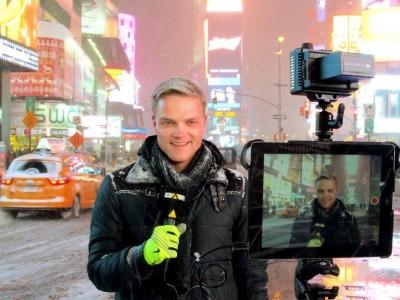 Manuel Koch am Times Square