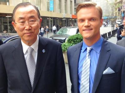 Mit UN-Generalsekretär Ban Ki-moon