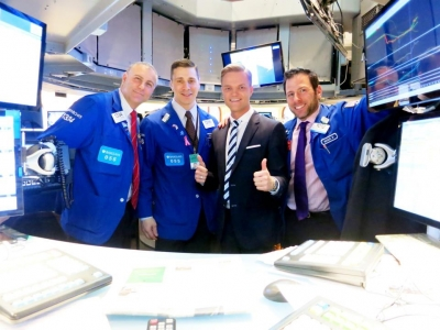 With Traders at NYSE
